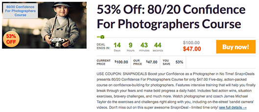 Post image for 80/20 Confidence For Photographers